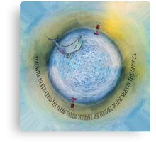 Courage to Lose Sight of the Shore Orb Mini World Canvas Print