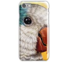 Blue quaker parrot realistic painting iPhone Case/Skin