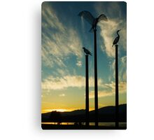 Inlet at Sundown Canvas Print