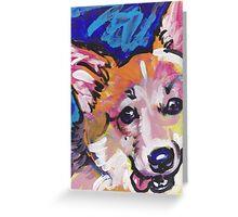 Pembroke Welsh Corgi Dog Bright colorful pop dog art Greeting Card