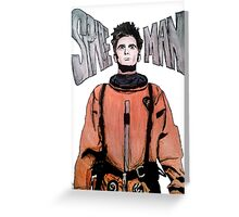 Space Man Greeting Card