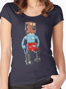 Smartphone Bot 8000 Women's Fitted Scoop T-Shirt