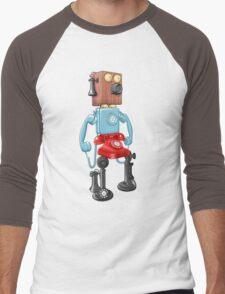 Smartphone Bot 8000 Men's Baseball ¾ T-Shirt