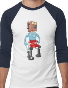 Smartphone Bot 8000 Men's Baseball ¾ T-Shirt