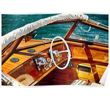 Classic Lake Como Boat Poster