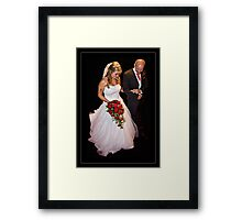 The Bride & Father Framed Print