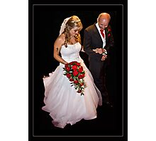 The Bride & Father Photographic Print