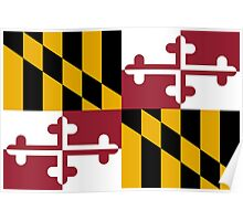 State Flags of the United States of America -  Maryland Poster
