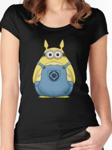 Minion Totoro Women's Fitted Scoop T-Shirt