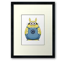 Minion Totoro Framed Print