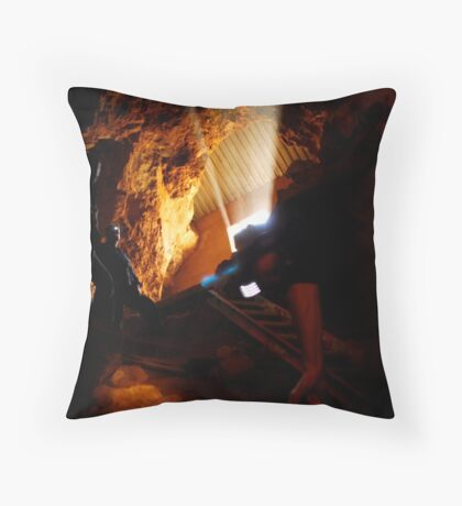 The Descent Throw Pillow