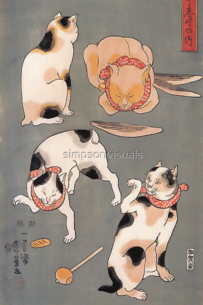 Four Cat Poses by simpsonvisuals