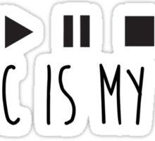 Music Is My Life - Black Sticker