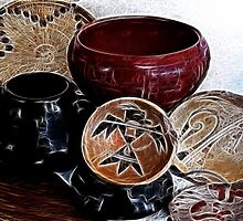 Fractal Pottery and Basket by redhawk