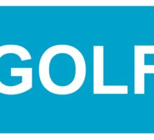 GOLF logo Sticker