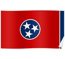 State Flags of the United States of America -  Tennessee Poster