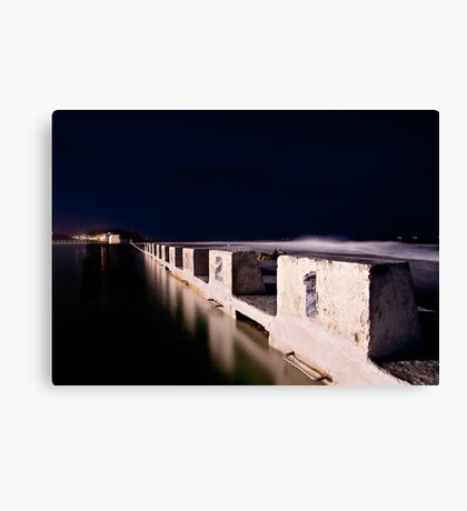 Merewether Blocks by Night Canvas Print