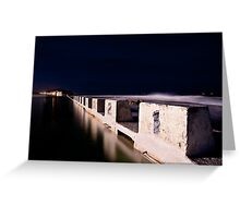 Merewether Blocks by Night Greeting Card