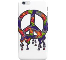 Psychedelic Peace Sign  iPhone Case/Skin