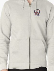 Psychedelic Peace Sign  Zipped Hoodie