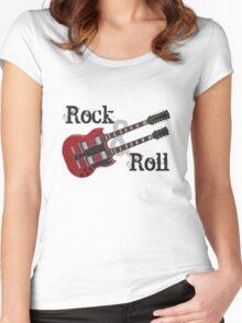 Rock & Roll Guitar Women's Fitted Scoop T-Shirt