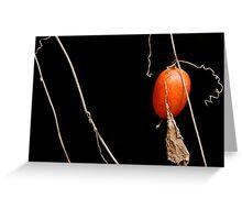 Seed of Japanese Snake Gourd Greeting Card