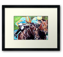 At the races Framed Print