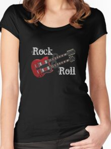 Rock & Roll Guitar Women's Fitted Scoop T-Shirt
