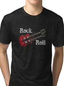 Rock & Roll Guitar Tri-blend T-Shirt