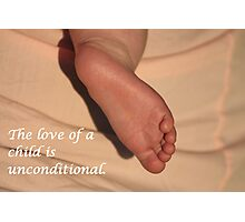 A Child's Love is Unconditional Photographic Print
