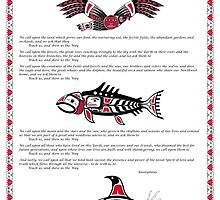Chinook Litany Poster with Illustrations by Frank Gomez