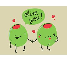 Cute olives in love Photographic Print
