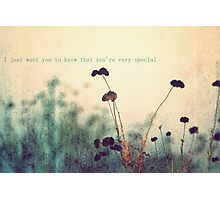 There Are Perks to Being a Wallflower. Photographic Print