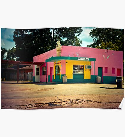 """Jerry's Sno Cones"" - Memphis, Tennessee Poster"