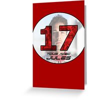 Jules Bianchi Tribute Greeting Card