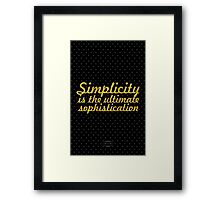 """Simplicity is the ultimate sophistication"" - Leonardo Da Vinci Framed Print"