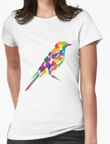 Colorful Abstract Bird Womens Fitted T-Shirt