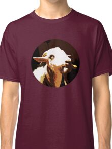 goat with carrot cigar  Classic T-Shirt