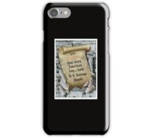 1946 Resolution - That every American buy and hold U.S. savings bonds iPhone Case/Skin