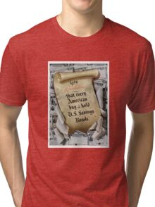 1946 Resolution - That every American buy and hold U.S. savings bonds Tri-blend T-Shirt