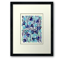 Tropical Wanderlust – Blue Framed Print