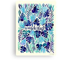 Tropical Wanderlust – Blue Canvas Print