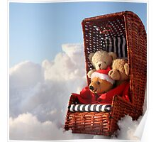 Bear's Winter Holidays Pillow Poster