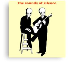 The sounds of silence Canvas Print