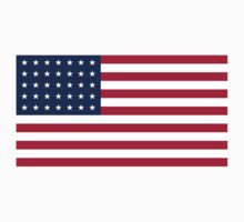 Historical Flags of the United States of America 1863 to 1865 US Flag With 35 Stars and 13 Stripes Kids Tee