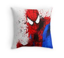 Web-Head - Splatter Art Throw Pillow