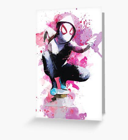 Spider-Gwen - Splatter Art Greeting Card