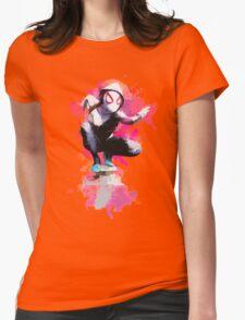 Spider-Gwen - Splatter Art Womens Fitted T-Shirt