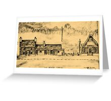 oldfarmhouse building & chapel...north wales..uk.. Greeting Card