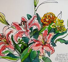 Ingrid's Lilies by Evelyn Bach